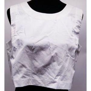 kate spade Tops - Kate Spade White Large Silk Blend Crop Top NWT